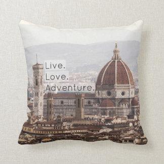Live Love Adventure Florence Pillow