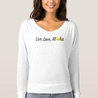 Live, Love, Aloha Flowy Long Sleeve Tshirt