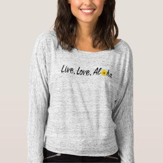 Live, Love, Aloha Off Shoulder Shirt