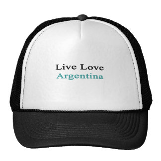 Live Love Argentina Trucker Hat