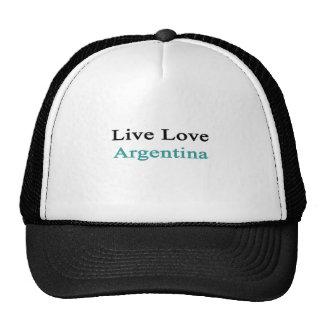 Live Love Argentina Hats