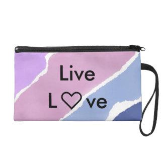 Live Love Bag Wristlet Clutch