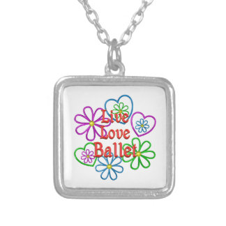 Live Love Ballet Silver Plated Necklace