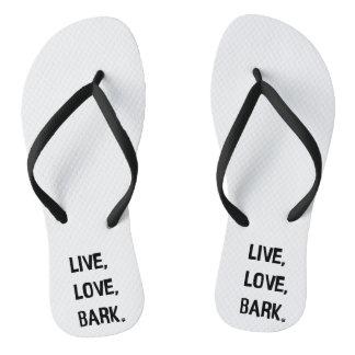 Live, Love, Bark Flip Flops
