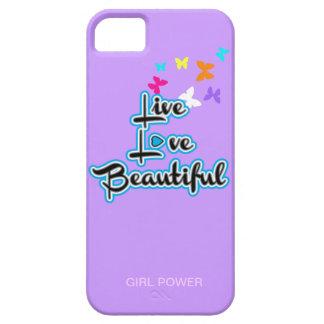 Live Love Beautiful iPhone Case