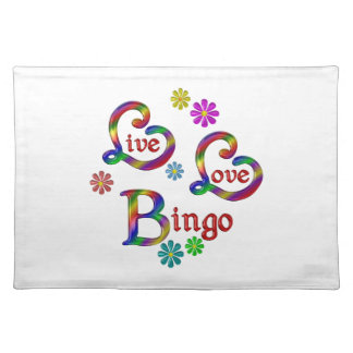 Live Love Bingo Placemat