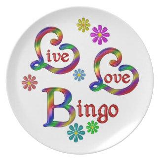 Live Love Bingo Plate