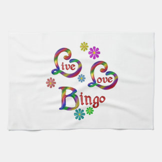 Live Love Bingo Tea Towel