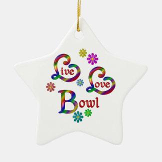 Live Love Bowl Ceramic Ornament