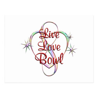 Live Love Bowl Postcard