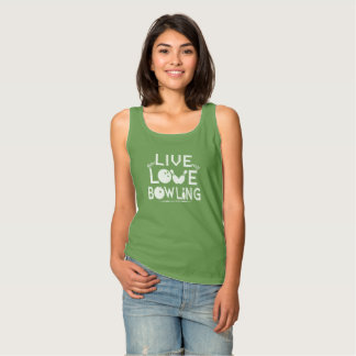 LIVE - LOVE - BOWLING SINGLET