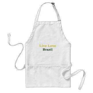 Live Love Brazil Adult Apron