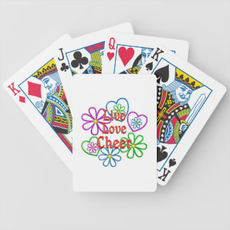 Live Love Cheer Bicycle Playing Cards