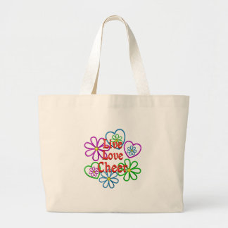 Live Love Cheer Large Tote Bag