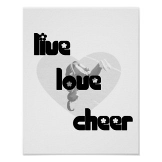 Live Love Cheer Poster