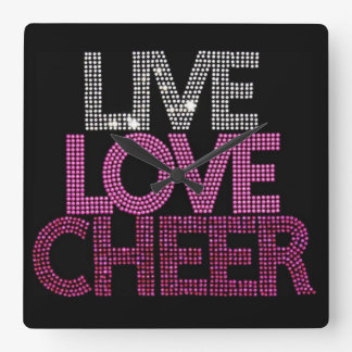 Live Love Cheer - Wall Clock