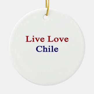Live Love Chile Christmas Tree Ornaments