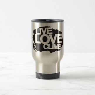 Live Love Climb | Climbing Stainless Steel Travel Mug