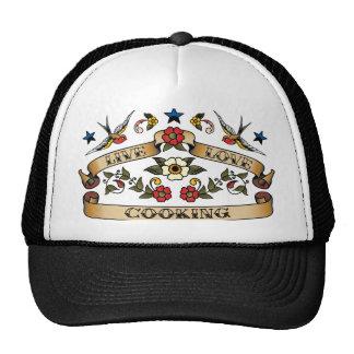 Live Love Cooking Cap