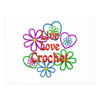 Live Love Crochet Postcard