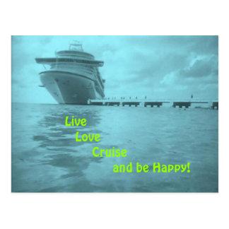 Live Love Cruise Postcard