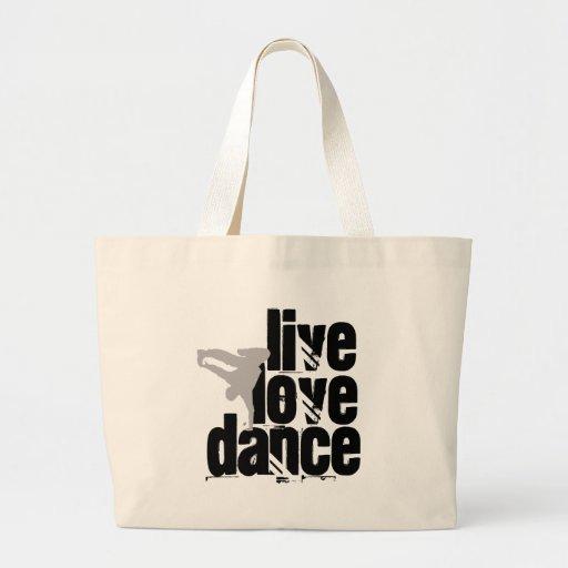 Live, Love, Dance Canvas Bags