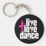 Live, Love, Dance Ballerina Keychain