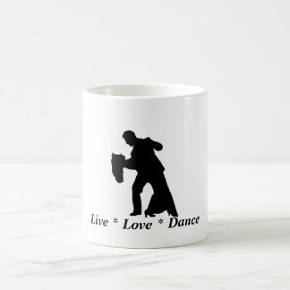 Live, Love, Dance - Ballroom Couple Mug