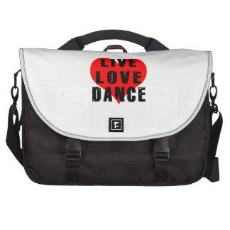 Live Love Dance Laptop Bags