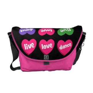 live love dance commuter bag