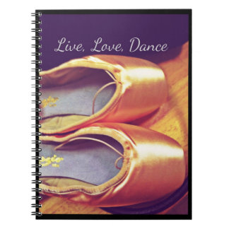 Live, Love, Dance Personalizable Notebook