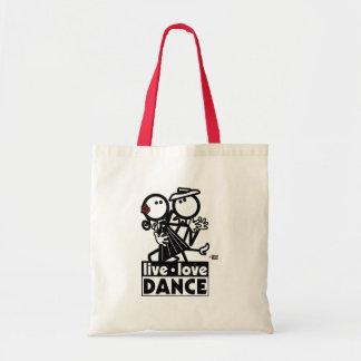 LIVE LOVE DANCE TANGO TOTE BAG