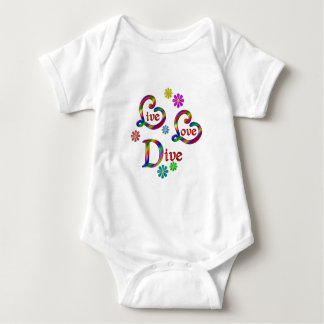 Live Love Dive Baby Bodysuit