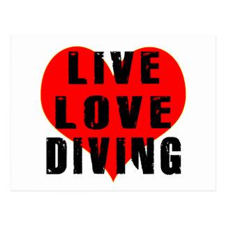 Live Love Diving Postcard