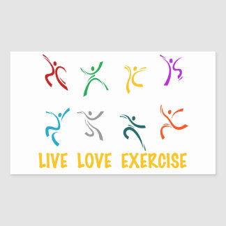 Live Love Exercise Stickers