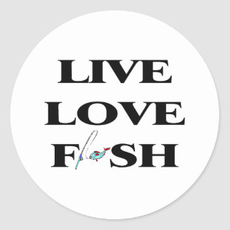 Live Love Fish Stickers