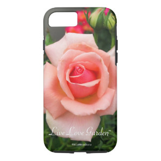 Live Love Garden Rose Phone Case