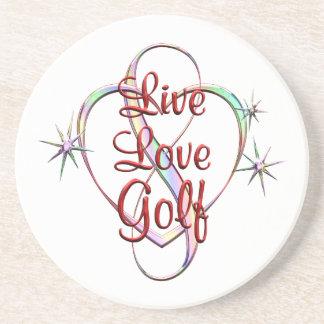 Live Love Golf Drink Coaster