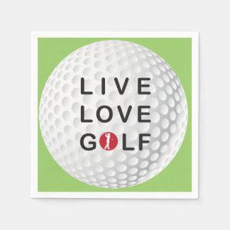live, love golf napkins disposable serviette