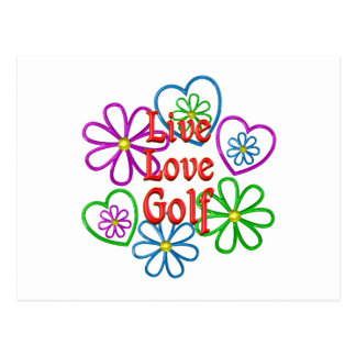 Live Love Golf Postcard