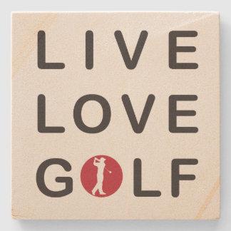 live love golf sand stone coaster.
