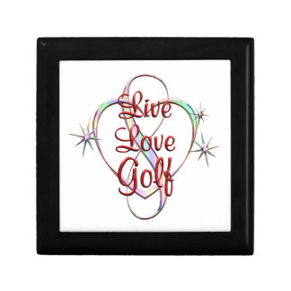 Live Love Golf Small Square Gift Box