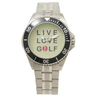 live love golf watch. watch