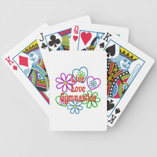 Live Love Gymnastics Bicycle Playing Cards