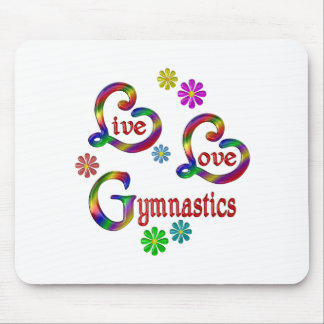 Live Love Gymnastics Mouse Pad