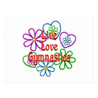 Live Love Gymnastics Postcard