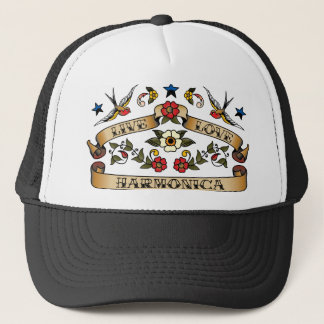 Live Love Harmonica Trucker Hat