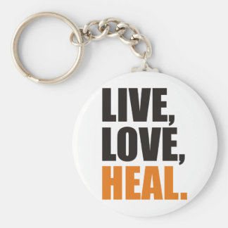 Live, Love, Heal Basic Round Button Key Ring