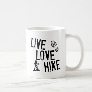 Live, Love, Hike Basic White Mug