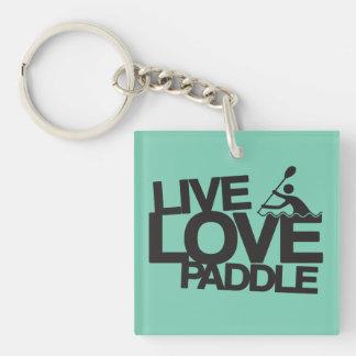 Live Love Hike   Hiking Single-Sided Square Acrylic Keychain